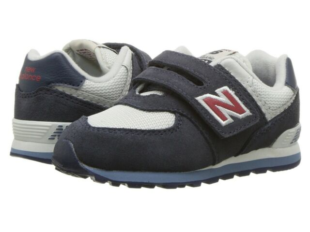 NEW BALANCE SZ 9W BOY TODDLER Essentials Hook /& Loop Sneaker NAVY//RED NEW