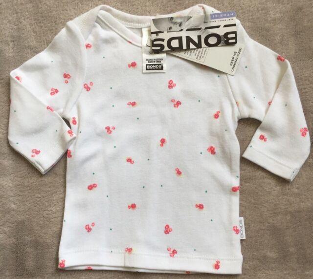 BONDS newbies Long Sleeve Tee 0000 Flowers *BNWT* $18.95. 10 Items = $5 Post