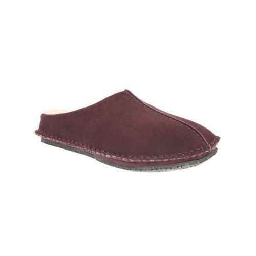 NEW MENS CLARKS KITE NORDIC BURGUNDY SUEDE SLIPPERS - UK SIZE 7G