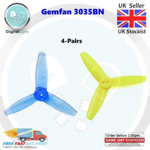 "1106 1404 1407 8pcs//4-Paires Gemfan 3035 3/"" 3-Blade 1.5 mm Propellers Props"