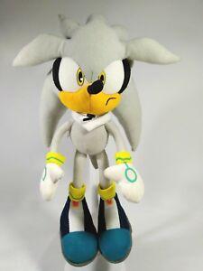 Ge Great Eastern Silver Sonic The Hedgehog Plush Doll Sega No Tush Tag 13 Ebay