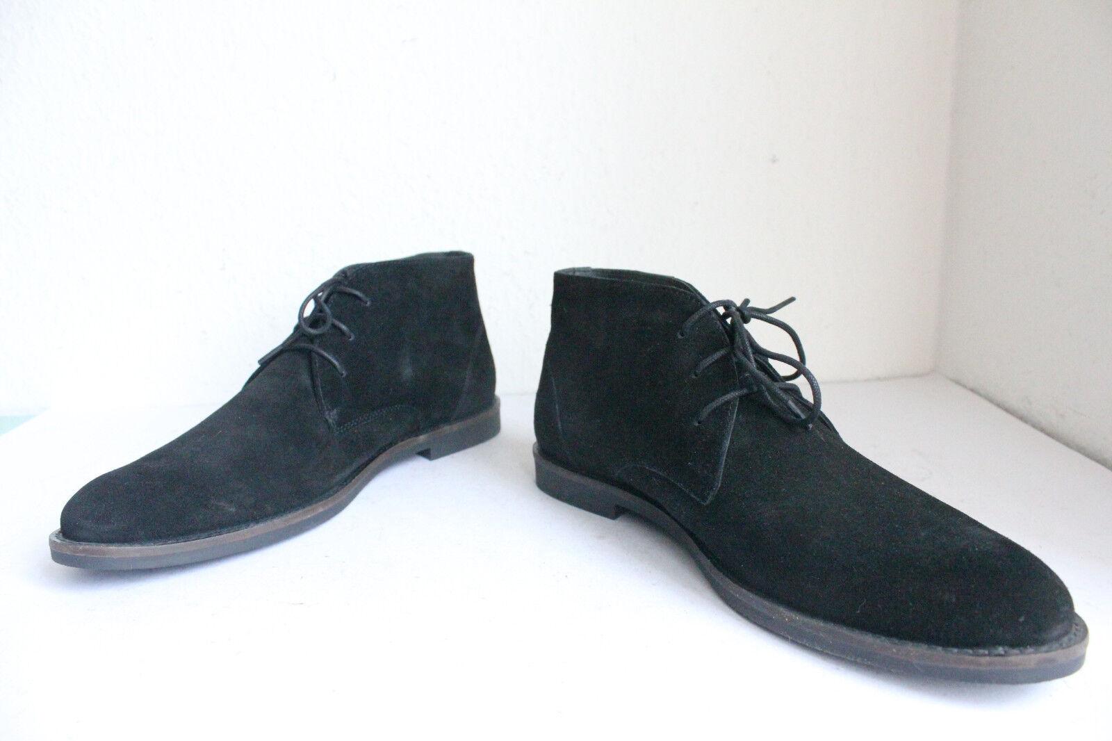 Pier One Elegante Trendy Schnürstiefeletten Boots Wildeder Schwarz 42--NEU