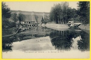 cpa-21-Environs-de-SEMUR-en-AUXOIS-Cote-d-039-Or-Le-BARRAGE-du-PONT