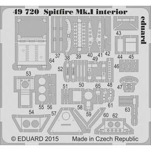 1-48-Eduard-Photoetch-Spitfire-Mk-i-Interior-For-Air-Edp49720-148-Mki
