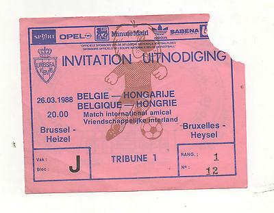 AnpassungsfäHig Original Ticket 26.03.1988 In Brüssel Belgien - Ungarn !! Selten