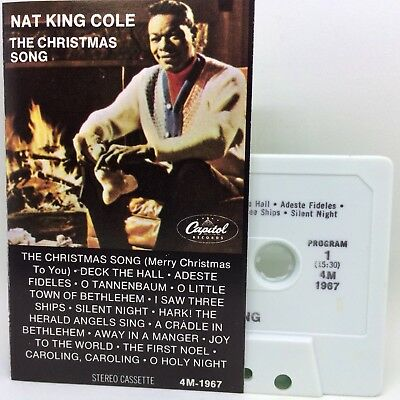 NAT KING COLE The Christmas Song Cassette EXCELLENT | eBay