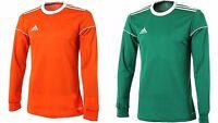 Adidas Men Squadra 17 Climalite Top Soccer Fitness Green Orange Jersey Bj9190