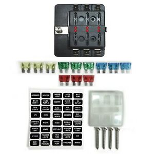 image is loading 6-way-12v-blade-fuse-box-distribution-block-