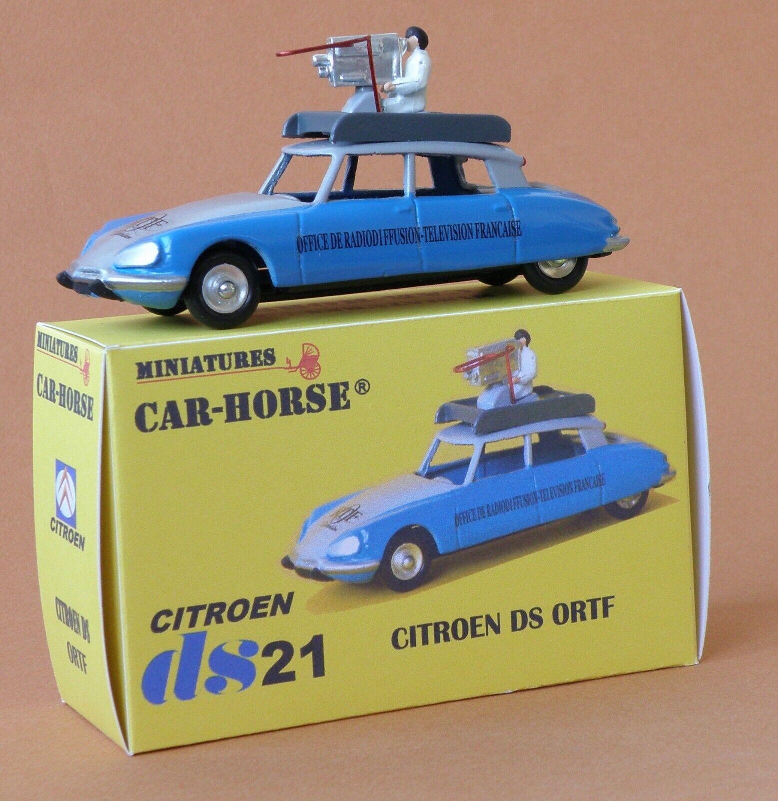 Car-Horse Citroen ds 21 cameraman ORTF tour de France jante Dinky