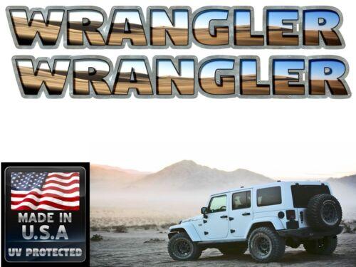 Jeep Wrangler Hood decals stickers 2 pc set Jeep wrangler Sand Dunes