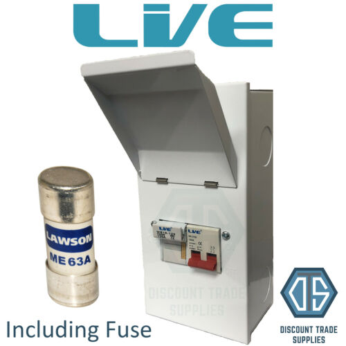 Live Metal Clad Fused Isolator Switch MCFS100 SP/&N 63 Amp Single Phase FUSE INC