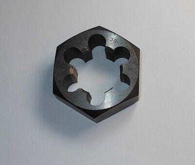 "M4x0.5 Metric Coarse Thread Hexagon Rethreading Die 19//32/"" Hex 1//4/"" Thick"