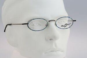 Robert Rudger 2090 010 22 Vintage 90s blue & silver small oval eyeglasses frames