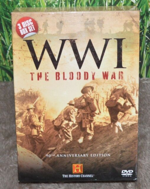 WWI - The Bloody War (DVD, 2004 , 3-Disc Set, Box Set) 90th ANNIVERSARY EDITION