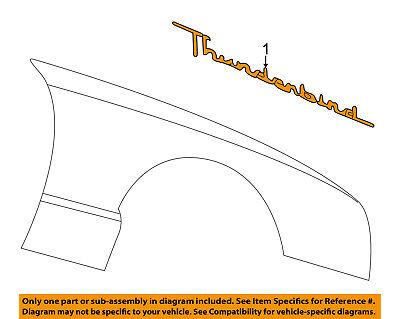 2002-2005 Ford Thunderbird Rear Left Driver Chrome Emblem OEM 1W6Z-76517A20-BA