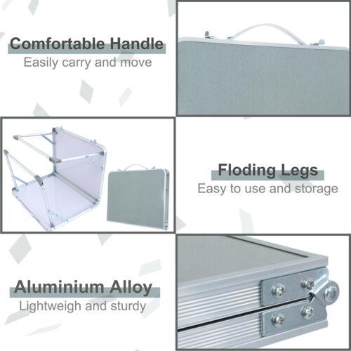 Portable Folding Mini Table Aluminum Indoor Outdoor Picnic Camping Foldable Desk