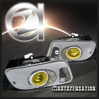 Fit 92-95 Honda Civic 2dr 3dr Yellow Bumper Fog Lights W/ Switch Wiring