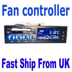 5-25-Front-Panel-Desktop-PC-CPU-Fan-Speed-Controller-CF-XD-SD-MMC-Card-Reader