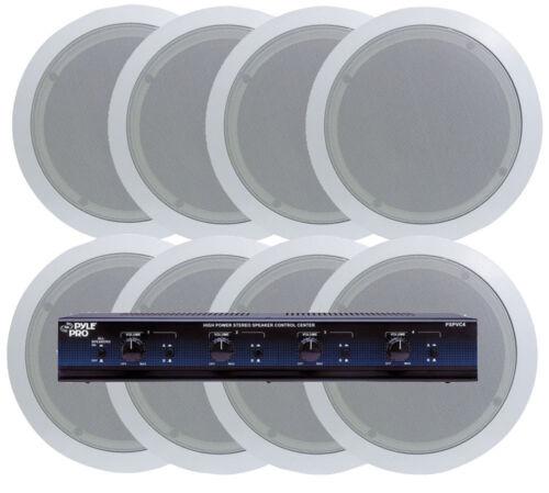 Pyle KTHSP85P 4 In-Ceiling Speaker System  w//Speaker Selector /& Volume Control