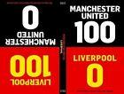 100-0: Man Utd-Liverpool/Liverpool-Man Utd by Will Brooks, Tim Glynne-Jones (Hardback, 2014)