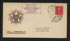 All American Aircraft display cachet cover  1927         KL0524