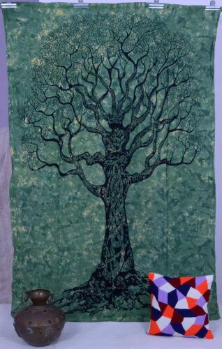 Arbre de vie hippie tapisseries bohème mur Tenture Couvre-lit double Ethnique Décor