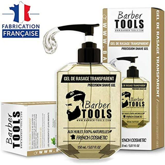 Gel de rasage transparent 150ml - Pour un rasage précis des contours de barbe (