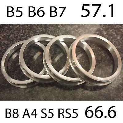 Conjunto de 4 Espaciador de Aleación Espita Anillos de centrado en el Cubo de rueda 57.1-66.6 para VW//Audi//Skoda