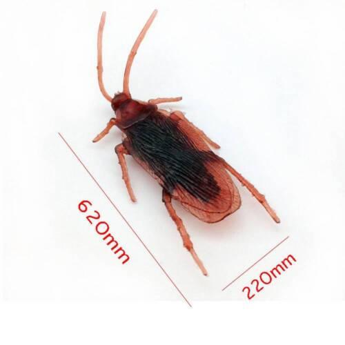 10*pcs Simulation Plastique Faux Cafard Cock Roach dégoûtante Bug blattes Jouet