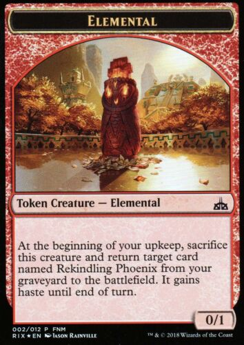 Elemental City's Blessing Token FOILNMFNM PromoMagic MTG Magic: The Gathering, MTG)