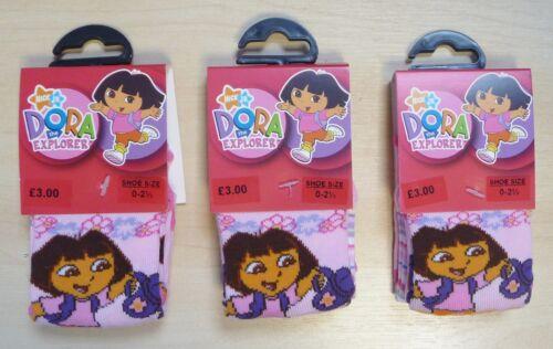 6 PAIRS OF GIRLS DORA THE EXPLORER SOCKS SHOE SIZE 0-2 1//2 RRP £9.00