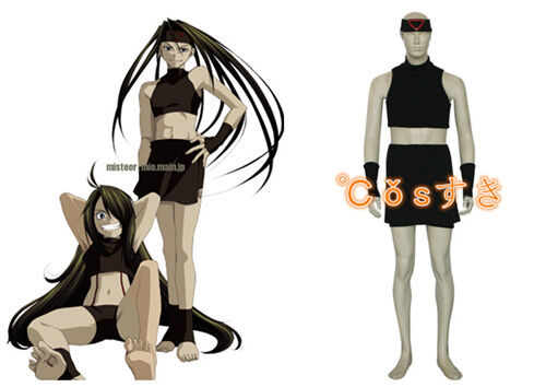 Full Metal Alchemist Envy Anime Cosplay Costume Work Clothes Overalls Full Sets