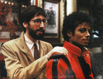 Michael Jackson /& John Landis UNSIGNED photograph NEW IMAGE Thriller L8092