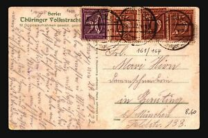 Germany-1922-Inflation-Postcard-Crease-Z17189