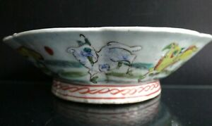 Ancienne-coupe-porcelaine-chine-mouton-Chinese-sheep-bowl-porcelain-1900