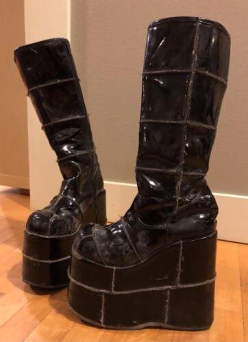 Gothic Demonia platform boots, Burning Man, Rave,