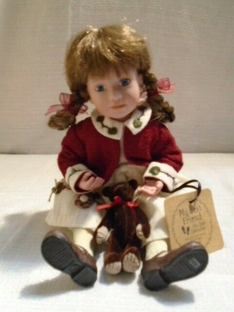 2003 Boyds Bear My Best Friend Wendy With Verna Tea For Two Doll 4848