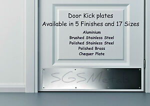 Door Kick Plates 5 Finishes Amp 17 Sizes Available In Stock