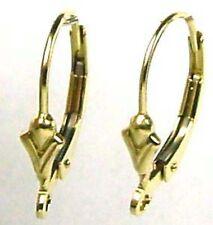 10pc 14k Yellow Gold Filled Plain fleur De Lis Leverback earring earwire GE04
