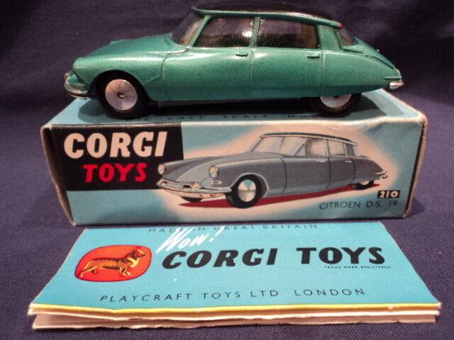 CORGI rare années 1960 CITROEN DS 19 No: 210 210 210 Comme neuf EX Shop Stock 3de7da