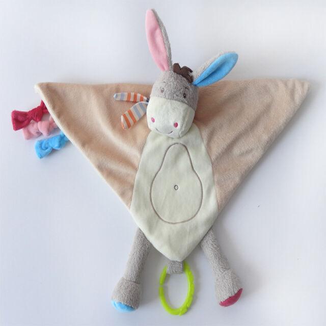 Lovely Baby Kid Pure Cotton Plush Animal Shape Comfort Toys Kid Sleeping Toys
