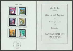 N. 740 - 745 Lussemburgo Caritas 1966 con album u.t.l fiaba