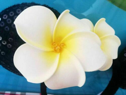 Disney Aulani Ko Hawaii Black Minnie Mickey Ears Plumeria Flower Jewels Headband