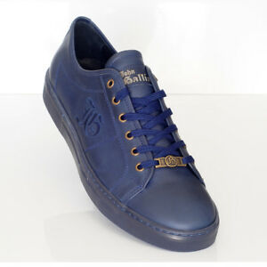 Navy Blue Leather Sneakers Sz 11