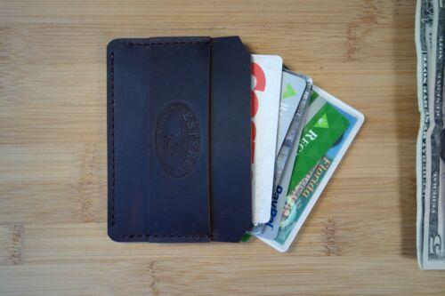 handmade in my stuido with premium lea Minimalist front or back pocket wallet