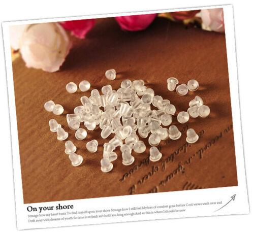 500Pcs Lots Rubber Earring Back Stoppers Ear Post Nuts Hot Jewelry Findings 4mm