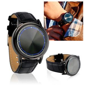 Fashion-LED-Wristwatch-Analog-Quartz-Watch-Bracelet-Touch-Screen-Blue-Light