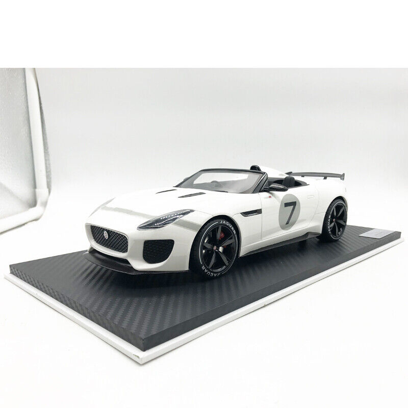 1 18 Scale JAGUAR F-TYPE Project 7 Ecurie White Model Car Collection For Gift