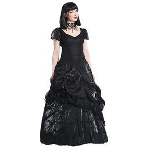 schwarzes GothicKleid mit Rosen, Gothic Ballkleid Hochzeit ...