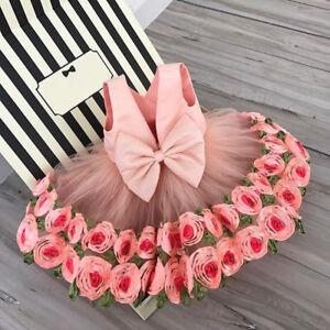 Flower-Girls-Dress-Princess-Kids-Baby-Party-Pageant-Wedding-Bridesmaid-Dress